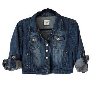 HIGHWAY JEANS Crop Denim Jacket Button Up